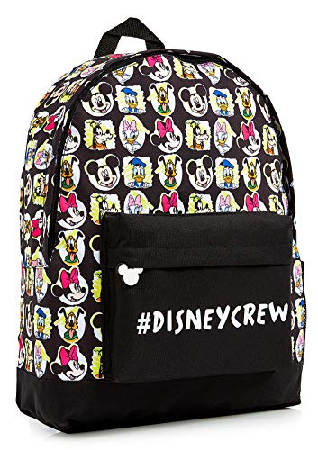 Disney School Bag for Kids, Backpack with Mickey Mouse Clubhouse Characters Minnie Mouse Pluto Donald and Daisy Duck, Rucksack for School Travel, Disney Gifts for Girls Boys