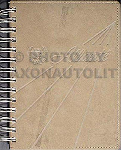 1987 Cadillac Allante Original Owner's Manual