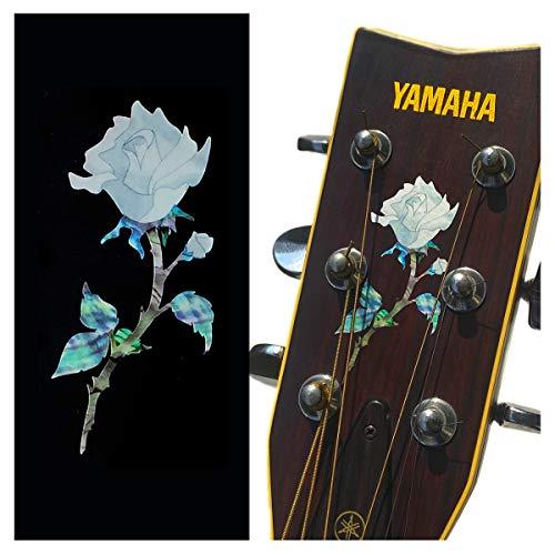 Inlay Sticker für Gitarre Kopfplatte – Single Rose