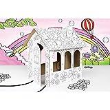 Compatible avec Maison de poupée en carton a construire, décorer colorier peindre