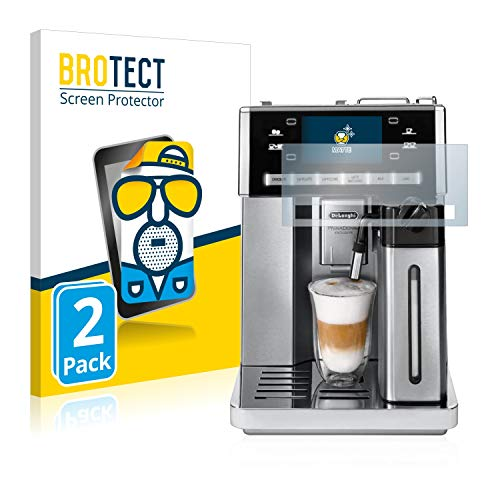 BROTECT 2X Entspiegelungs-Schutzfolie kompatibel mit DeLonghi Primadonna Exclusive Esam 6900 M Displayschutz-Folie Matt, Anti-Reflex, Anti-Fingerprint