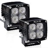 RUN-D 2X 40W CREE LED Driving Lights 3150lm 3'' Cube Pods for Jeep JK 4x4 Off Road ATV UTV Truck Work Lamp (Flood)