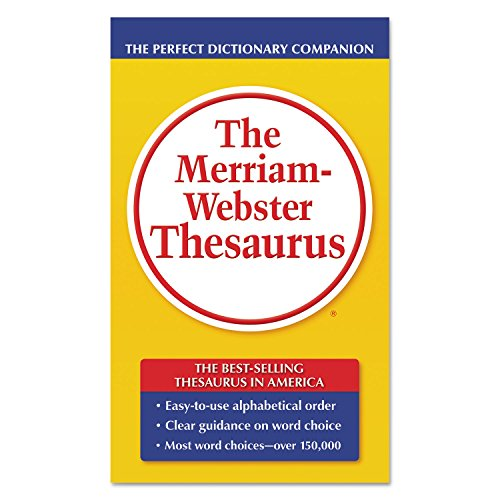 Price comparison product image Merriam Webster 850 Paperback Thesaurus Dictionary Companion,  Paperback,  800 Pages (MER850)