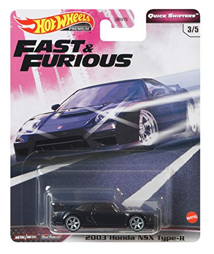 Hot Wheels Fast & Furious Honda 2003 NSX Type-R 1:64 Scale Diecast Vehicle, Toys for Kids Age 3 and Up, Toys for Boys (GJR80)