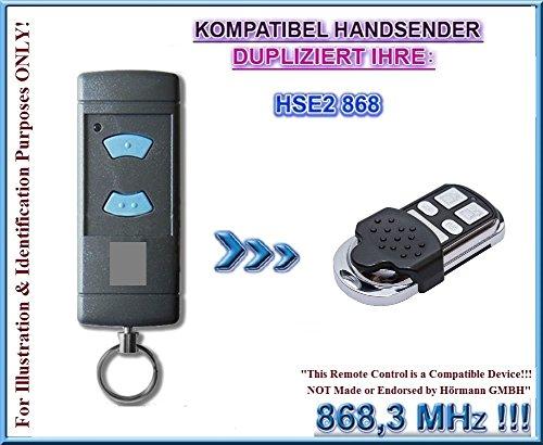 Hörmann HSE 868 kompatibel handsender, klone fernbedienung, 4-kanal 868.3Mhz fixed code. Top Qualität Kopiergerät!!! (Nicht kompatibel mit BS BiSecur fernbedienungen)