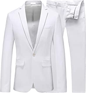 94a8da313ea42 UNINUKOO Mens Slim Fit 2 Piece Single Breasted Jacket Party Prom Tuxedo  Suits