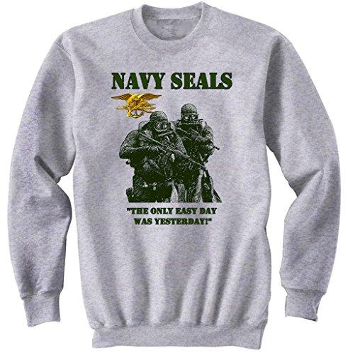 teesquare1st Men\'s Navy Seals Tandem Grey Sweatshirt Size Small