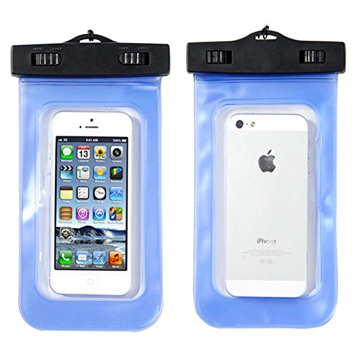 Ansi Home Universal Waterproof Case With Neck Strap (Blue 1)