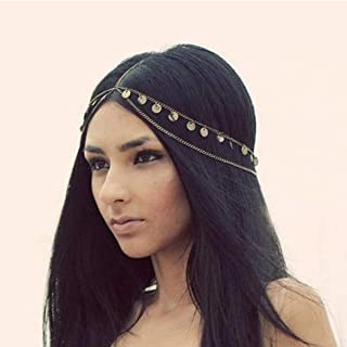 Catery Headbands Jewelry Sequins Head Chain Headpiece Fashion Hair Accessories for Women and Girls