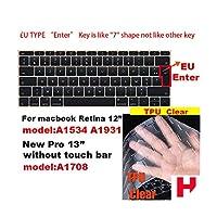 for Apple for Macbook pro 13 / 11Air 13/15 Retina 12 Inch AllシリーズキーボードカバーケースシリカゲルTPUクリアプロテクターフィルムEU/USバージョン-H-