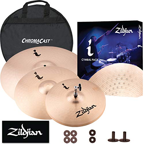 "GoDpsMusic Zildjian Complete Set: 20"" I Ride, 16"" I Crash, 14"" I HiHat Pair, Cymbal Bag, Felts, and Sleeves (JF-Z-ZBT"