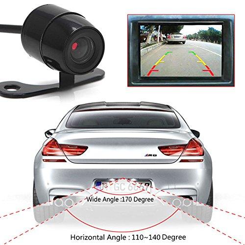 12V 120º Mini Color CCD Reverse Backup Car Front Rear View Camera Night Vision
