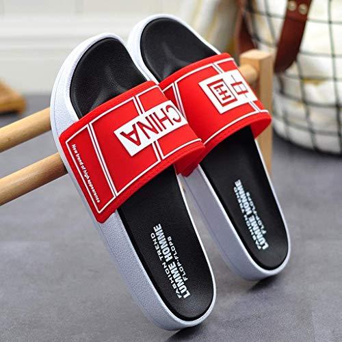 TQJ Apatillas de Baño Antideslizantes Zapatillas De Baño Piscina para Hombres Slide Beach & Pool Shoes Sandalias De Hombre Sandalias Y Zapatillas Home Care Shoes Hombres Sandalias De Ducha