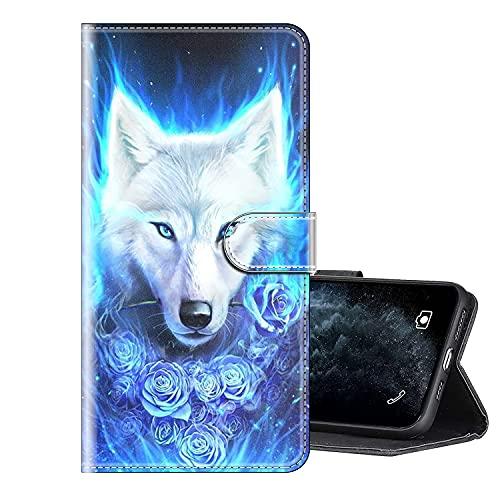 Sinyunron Handy Schutzhülle Kompatibel mit DOOGEE BL7000 Hülle Handy Tasche Hülle Handyhülle Lederhülle mit Kartenfächer,Ständer,Magnetverschluss,Hülle02C