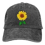 NVJUI JUFOPL Women's Cute Sunflower Baseball Cap Vintage Washed Funny Hat Black