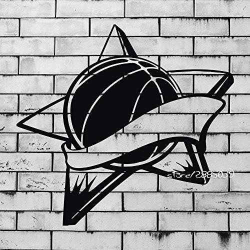 yaoxingfu Baloncesto All Stars Pegatinas de Pared Tough Sport Decor Mural de Pared Vinilo Art Sticker Decor Boys Room Gym Wallpaper Poster S WW-1 42X67cm