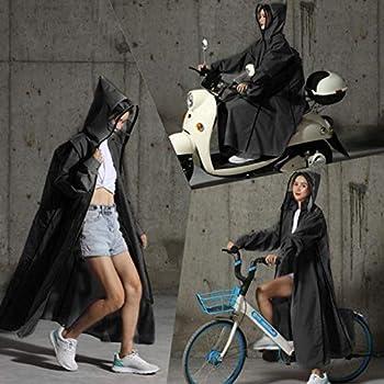 Manteau imperméable de Scooter de Moto pour Les Hommes des Femmes,Coupe-Vent imperméable Manteau Capuche imperméable de Moto de Scooter, Veste de Cyclisme Couverture Manteau de Cap Poncho Vêtements