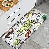 PATINISA Alfombra de Cocina,Inca de símbolos Perú Cultura peruana típica con Salpicaduras de Color en el Abstracto,Antideslizante Estera Lavable Alfombrillas Absorbentes Pasillo alfombras,120x45cm