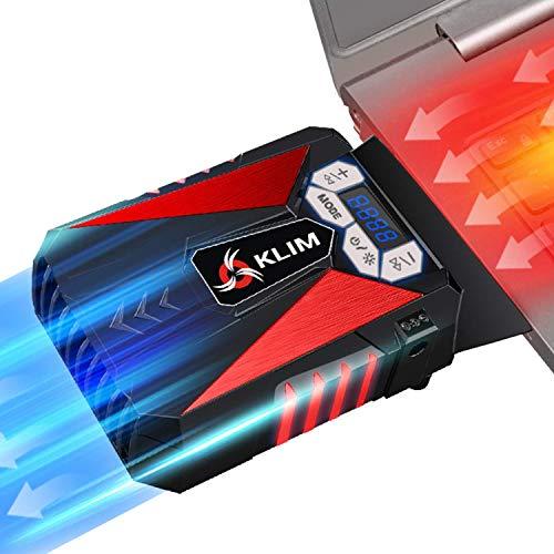 KLIM Cool – Refrigerador para Ordenador Portátil – Ventilador de Alto Rendimiento para Una Rápida Refrigeración, Aspiradora de Aire USB, Rojo [Nueva Versión 2021 ]