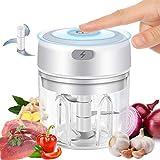 Electric Garlic Chopper,Food Processor Mincer Blender Mixer Portable Mini Electric Garlic Mincer...
