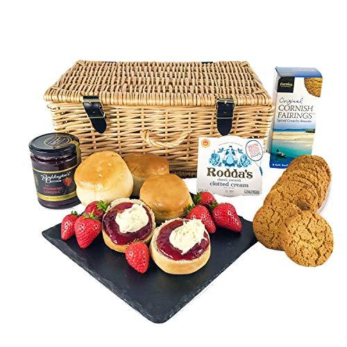 Cream Tea Hamper with Scones, Jam, Rodda's Clotted Cream & Spiced Biscuits