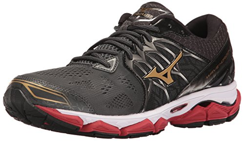 Mizuno Men's Wave Horizon Running Shoe, Dark Shadow/Gold, 7.5 D US
