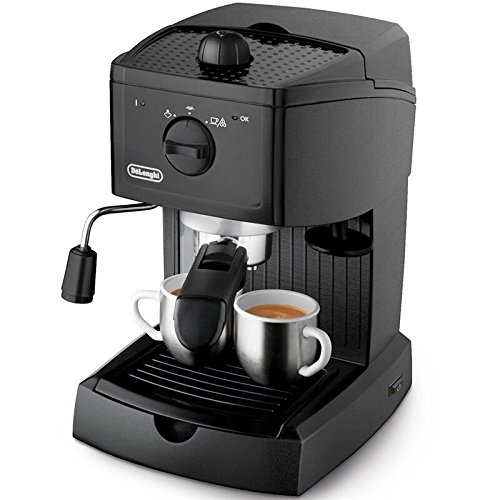 DeLonghi EC146.B Coffee Maker with Cappuccino System, Black