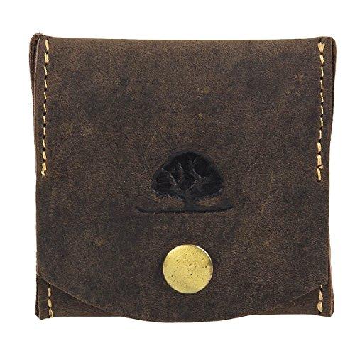 Greenburry Vintage portafoglio portamonete pelle 7,5 cm marrone