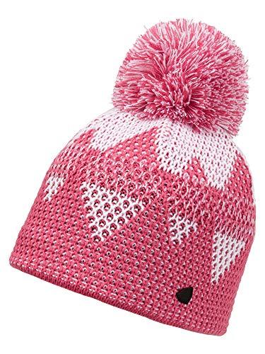 Ziener Damen ILMI Bommel-mütze/Warm, Gestrickt, pink Rouge, Usex
