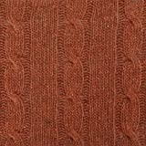 Antique Burnt Orange Wool Blend Cable Knit, Fabric by The Yard