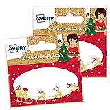Avery - Lot de 12 Marque-Places Noël traditionnel TRADI-P2X2