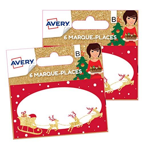 Avery Set of 12 Traditional Christmas Place Cards
