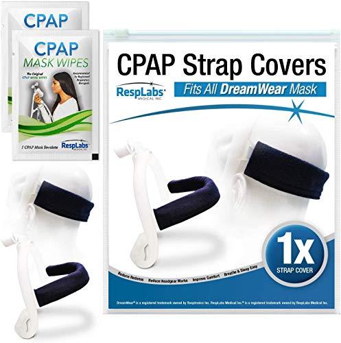 RespLabs CPAP Headgear Strap Covers Kompatibel mit DreamWear CPAP Mask | Rückseite der Kopf Riemenabdeckung