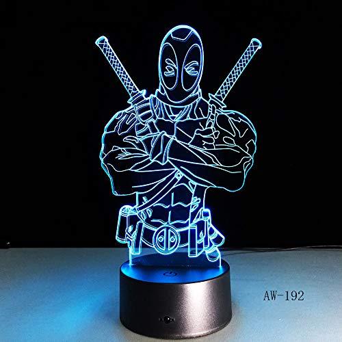 Mode LED Spielzeug 3D Illusion Tischlampe Film Superheld Antiheld Film Superheld Attentäter Figur Nachtlicht Farbe Stimmung Neuheit Tischlampe Urlaub Kinder Geschenk 192