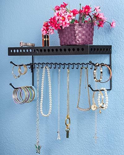 Mango Steam Wall-Mounted Jewelry Organizer Shelf (17 Inch,...