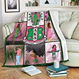 Pink & Green A-K-A Ultra-Soft Micro Fleece Blanket Microfiber Blanket, Luxury Blanket for Bedding Sofa Couch Bed and Travel