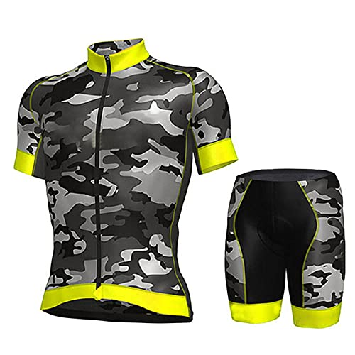 HXTSWGS Traje Equipacion Ciclismo Hombre ,Pro Team Cycling Jersey Men Short Sleeve MTB Riding Bicycle Sports Clothing-A08_3XL