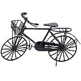 Gojiny Bicicleta de Casa de Muñecas en Miniatura 1:12 Bicicleta de Metal en Miniatura Bicicleta Casa de Muñecas Accesorio de Decoración de Casa de Muñecas