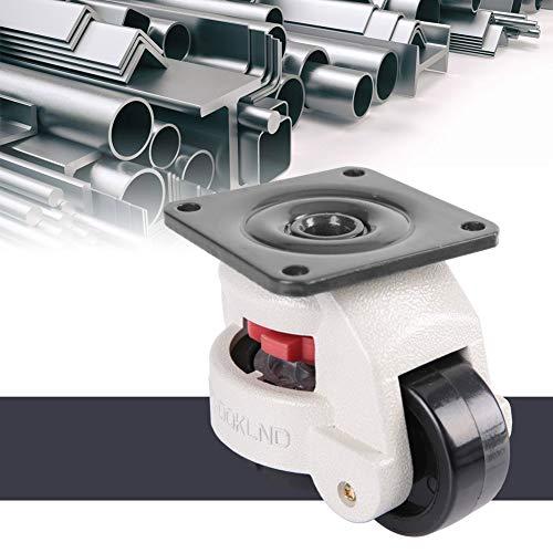 """51t+2YnGr+L. SL500  - Fafeicy 4 piezas 2""""Placa superior giratoria de 360 grados, rueda de nivelación retráctil, rueda giratoria para máquina industrial, capacidad de 551 libras para trabajo pesado"""