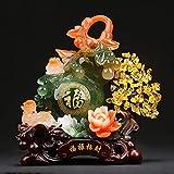 WGGTX Resina de la artesanía afortunados Regalos propicios Sala Oficina Estudio documental Tienda Adornos (Color : A)