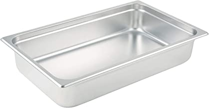 Winco SPJL-104 Anti-Jamming Steam Pan, Full-Size x 4-Inch