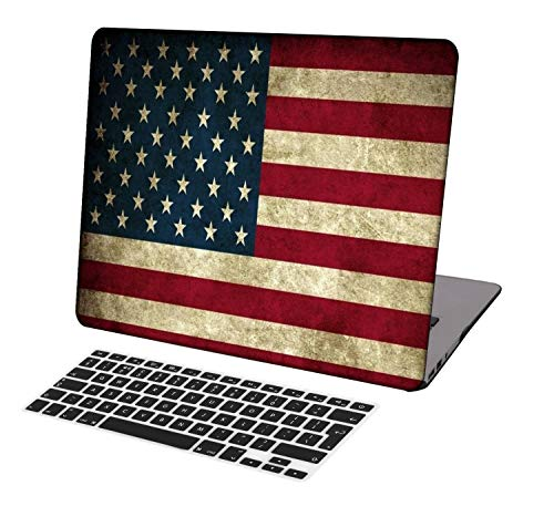 Laptop Case for MacBook Air 13 inch Model A1932,Neo-wows Plastic Ultra Slim Light Hard Shell Cover Compatible MacBook Air 13 inch 2018 Release,Flag 2