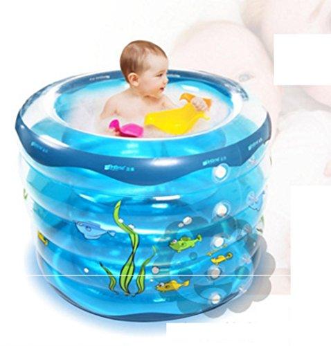 Pratique portable Thicken Hardy enfant baignoire gonflable adulte Sauna Baignoire La baignoire pliable QLM-Baignoire gonflable et bain gonflable (Couleur: bleu) , blue , 95cm