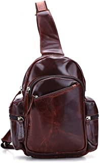 Mens Bag Fashian Man's Leather Multi-layer Zipper Section Single Shoulder Multi-function Messenger Handbag Shoulder Bag High capacity