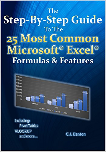 The Step-By-Step Guide To The 25 Most Common Microsoft Excel Formulas & Features Front Cover