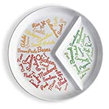 Divided Slimming Plate for Easy Portion Control | Beautifully Designed with Food Ideas for Sustainable Weight Loss | Easily Follow a Balanced Diet