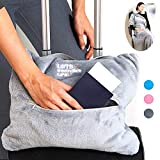 4 in 1 Travel Blanket - Lightweight, Warm and Portable. The Latest Small Compact...