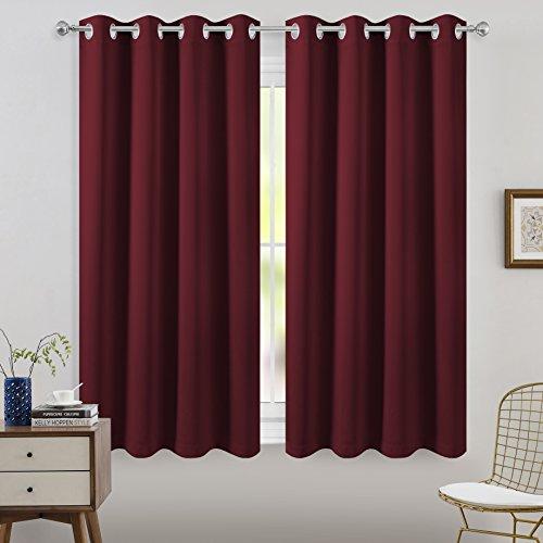 FLOWEROOM Grommet Blackout Curtains for Bedroom, 2 Panels