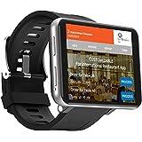 """【2020最新版大字幕】 4Gスマートウォッチ GPS IP67防水 2.86"""" 640*480 3GB+32GB 5MP Camera 2700mah Android 7.1 ランニングウォッチ iphone&Android対応 22国言語 (3+32G银)"""