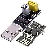 AZDelivery ESP8266 ESP-01 Module émetteur-récepteur série sans fil WLAN WiFi avec adaptateur USB y compris un eBook